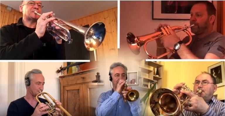 Irische Segenswünsche: Trompeter grüßen aus Homeoffice – Anhaltische Philharmonie Dessau